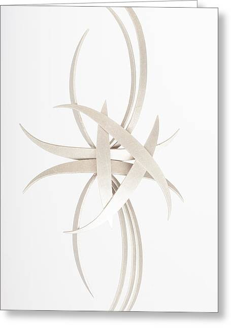 Silver Sculptures Greeting Cards - Dimensions Greeting Card by Jon Koehler