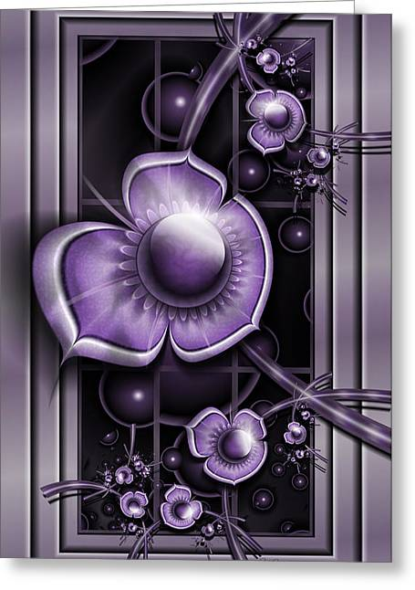 Fractal Orbs Greeting Cards - Dimensions Of Purple Greeting Card by Karla White