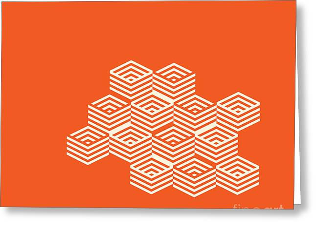 Repetition Drawings Greeting Cards - Dimention Through Pattern Greeting Card by Igor Kislev