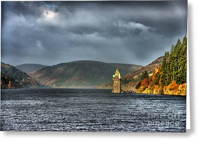 Welsh Reservoirs Greeting Cards - Diminutive Greeting Card by Graeme Pettit