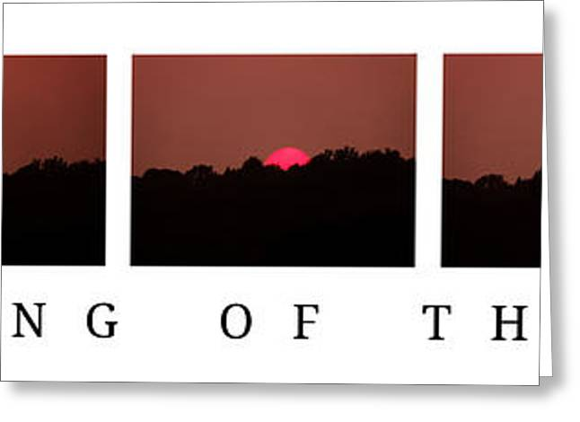 Sunset Posters Greeting Cards - Dimming of the Day poster Greeting Card by Mike Nellums