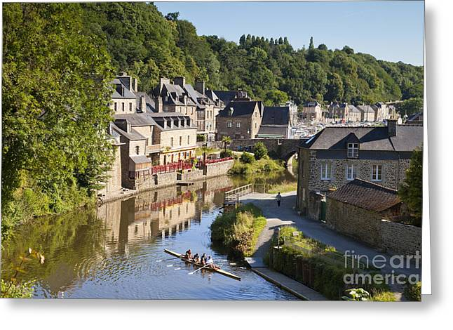 Dinan Brittany France Rance And Skuller Greeting Card by Colin and Linda McKie