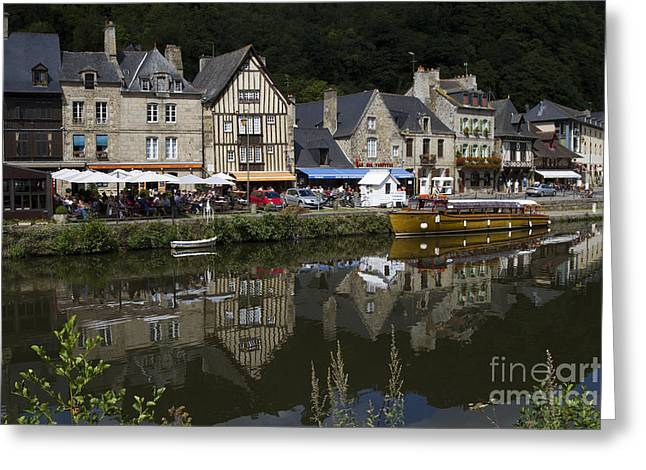 Urban City Areas Greeting Cards - Dinan - Old Town By The Riverside Greeting Card by Heiko Koehrer-Wagner