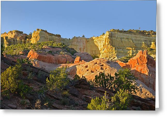 Rugged Greeting Cards - Dine Tah  Among the People  Scenic Road Greeting Card by Christine Till