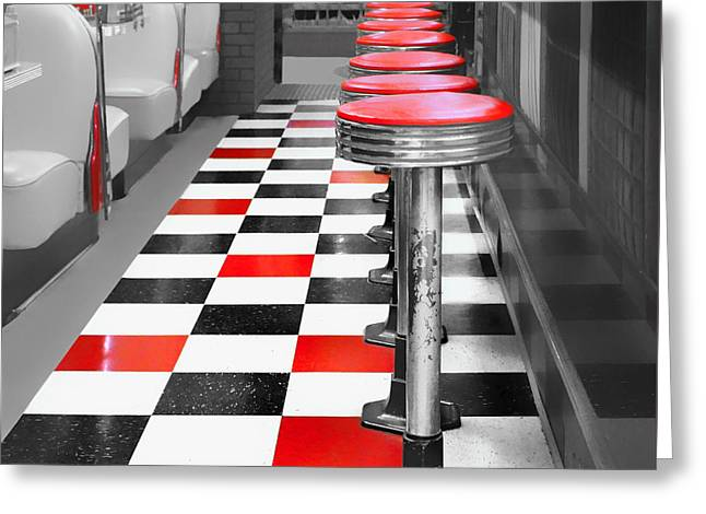 Repetition Greeting Cards - Diner #1 Greeting Card by Nikolyn McDonald