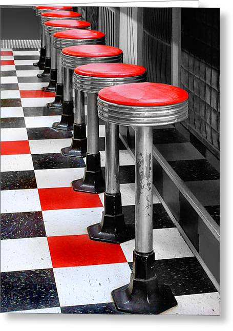 Mcdonalds Restaurant Greeting Cards - Diner #2 Greeting Card by Nikolyn McDonald