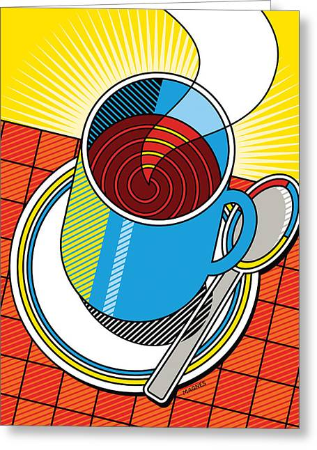 Diner Greeting Cards - Diner Coffee Greeting Card by Ron Magnes