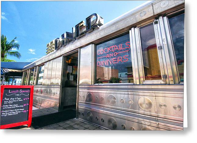 Diner Photographs Greeting Cards - Diner Greeting Card by Mitch Cat
