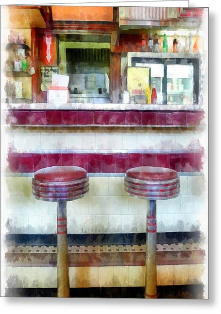 Diner Greeting Cards - Diner Phone Case Greeting Card by Edward Fielding