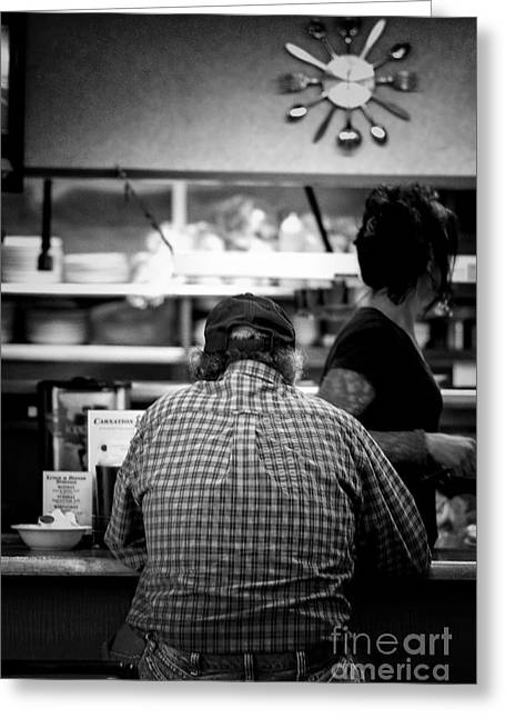 Denver Artist Greeting Cards - Diner Regular Greeting Card by Catherine Fenner