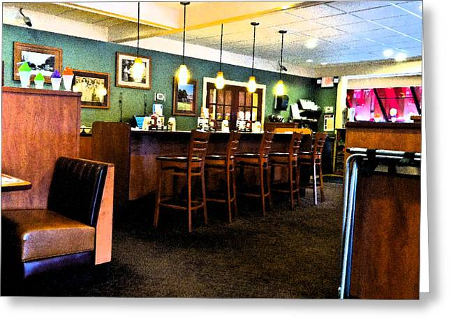 Copyrighted Greeting Cards - Diner Greeting Card by Robert Ponzoni