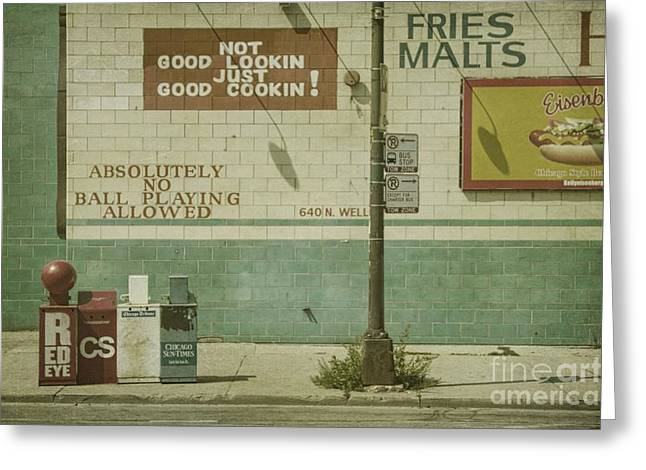 Gutter Greeting Cards - Diner Rules Greeting Card by Andrew Paranavitana