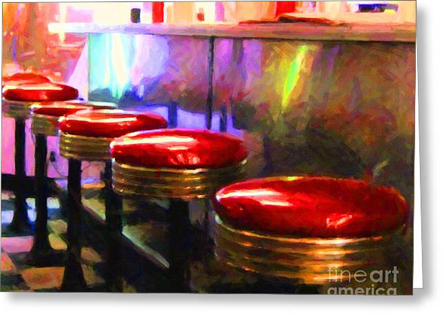 Diner - V2 - Horizontal Greeting Card by Wingsdomain Art and Photography
