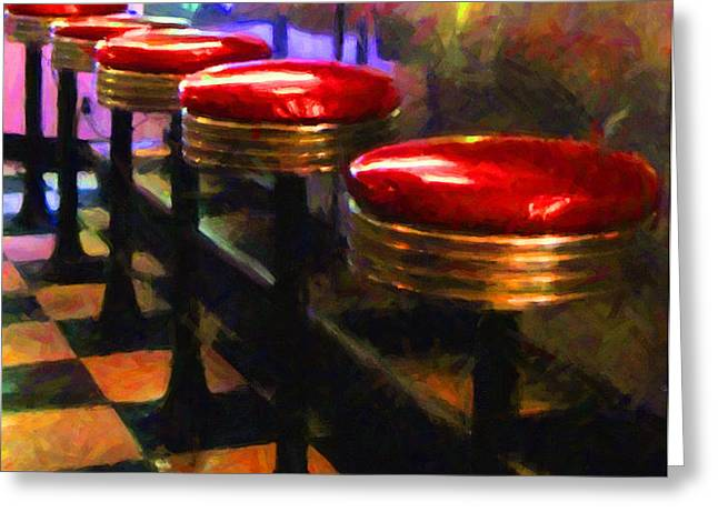 Diner - v2 Greeting Card by Wingsdomain Art and Photography