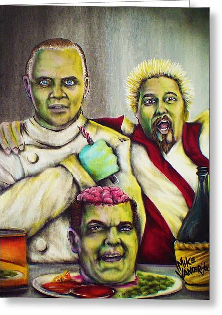 Ray Liotta Greeting Cards - Diners Drive-Ins and Fava Beans and Chianti Greeting Card by Mike Vanderhoof
