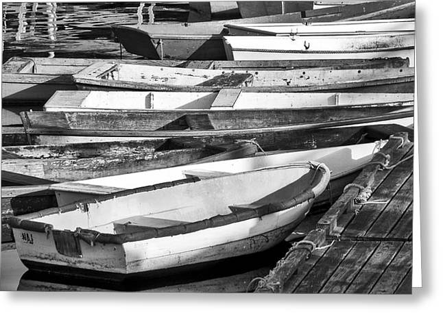 Cape Neddick Greeting Cards - Dinghies - Perkins Cove Maine Greeting Card by Steven Ralser