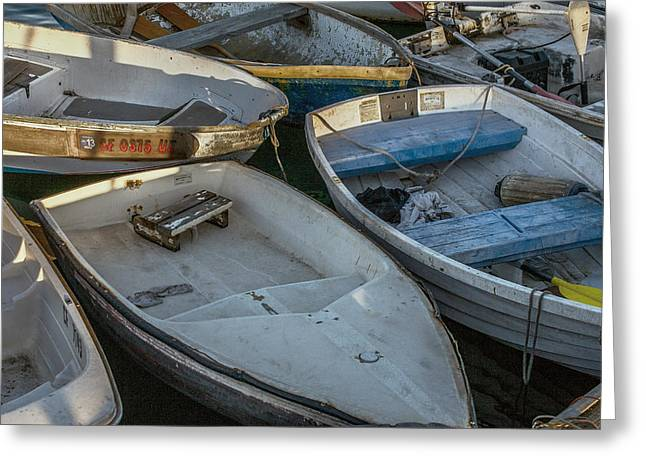Dinghy Greeting Cards - Dinghies Greeting Card by Peter Tellone