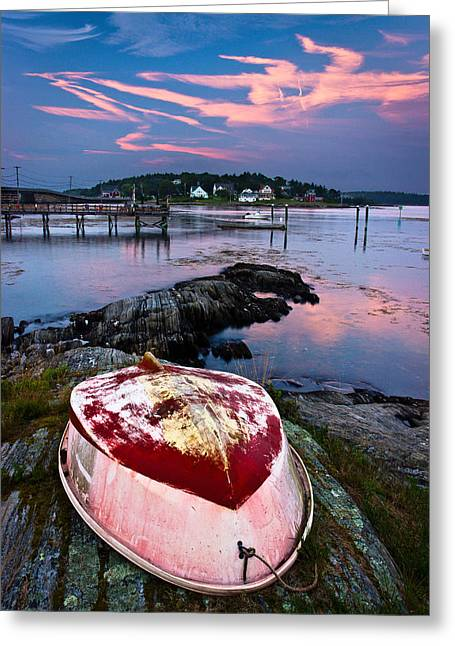 Gut Greeting Cards - Dinghy Greeting Card by Benjamin Williamson