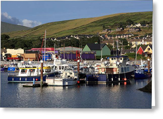 Fishing Trawler Greeting Cards - Dingle Harbour County Kerry Ireland Greeting Card by Aidan Moran