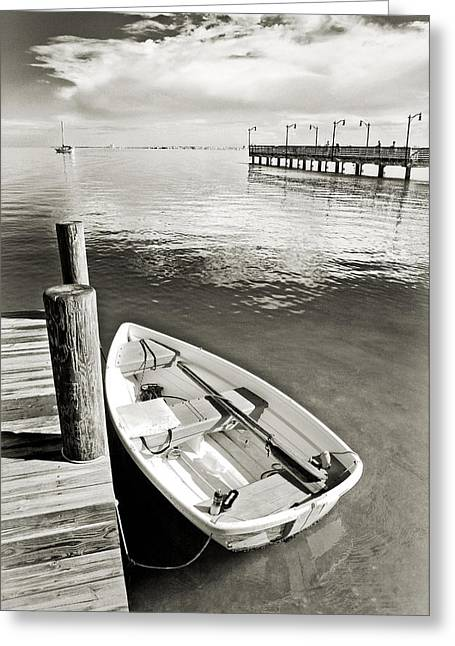 Black Tie Greeting Cards - Dingy 2 Greeting Card by Patrick M Lynch