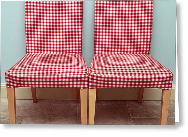 Tubular Greeting Cards - Dining chairs Greeting Card by Tom Gowanlock