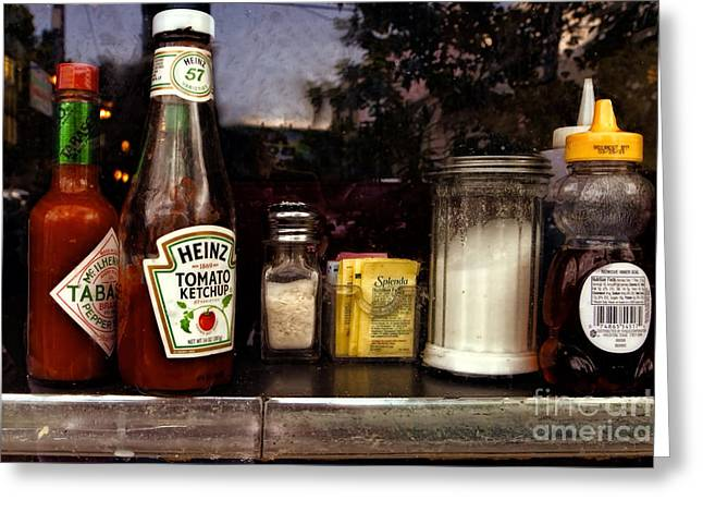 Ketchup Digital Greeting Cards - Dining - From the Outside Looking In Greeting Card by Kathleen K Parker