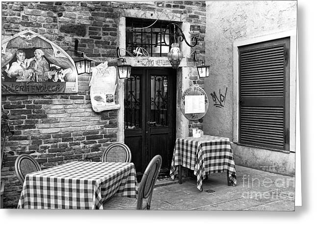 Italian Restaurant Greeting Cards - Dining Italian Style Greeting Card by John Rizzuto