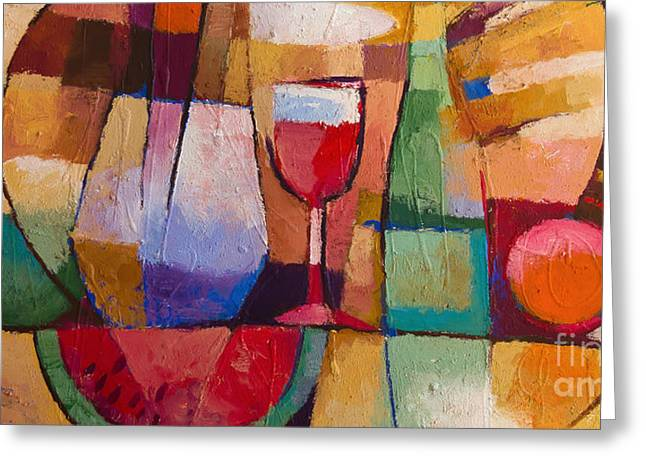 Best Sellers -  - Wine-glass Greeting Cards - Dining Greeting Card by Lutz Baar