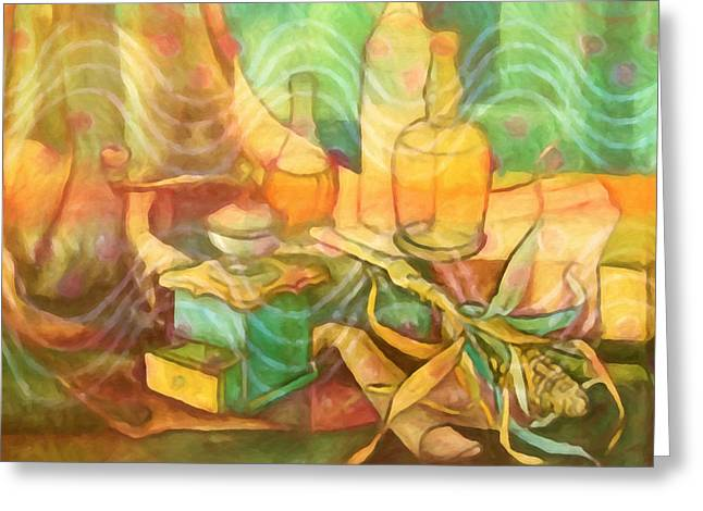 Diningroom Stillife Greeting Card by Lutz Baar