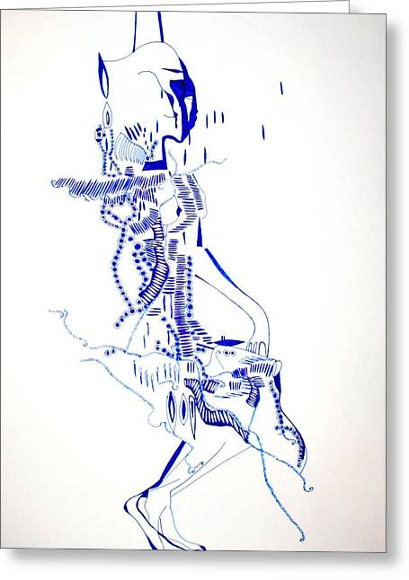 Corset Drawings Greeting Cards - Dinka Totem - South Sudan Greeting Card by Gloria Ssali