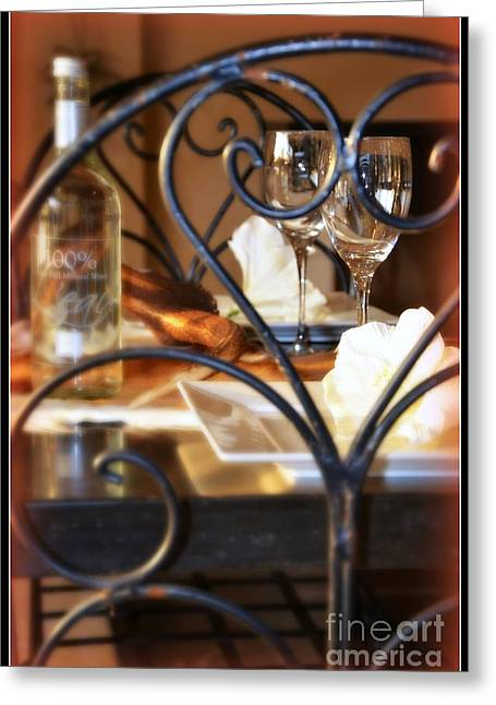 Dinner Party Invitation Greeting Cards - Dinner for two Greeting Card by Lisa Van der Plas
