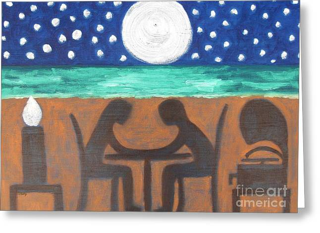 Night Diner Prints Greeting Cards - Dinner For Two Greeting Card by Patrick J Murphy