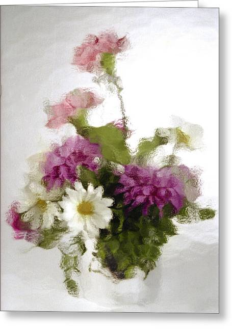 Glass Vase Greeting Cards - Dinner for Two Greeting Card by Penny Lisowski