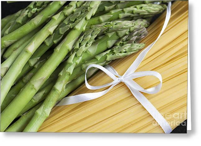 Noodles Greeting Cards - Dinner Ingredients Greeting Card by Charlotte Lake