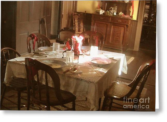 Dinner Digital Art Greeting Cards - Dinner Party Greeting Card by Cristophers Dream Artistry