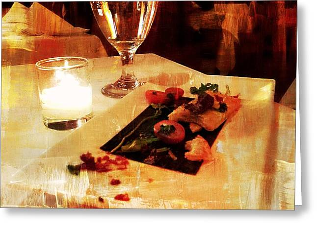 Table Cloth Greeting Cards - Dinner Plate Greeting Card by Diana Angstadt