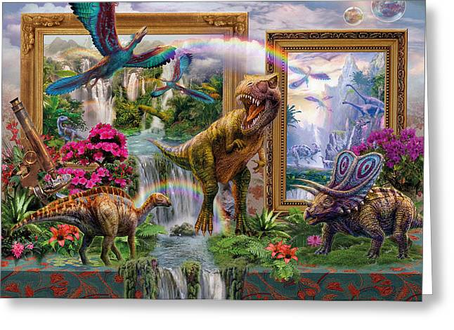 Prehistoric Digital Greeting Cards - Dinoblend Greeting Card by Jan Patrik Krasny