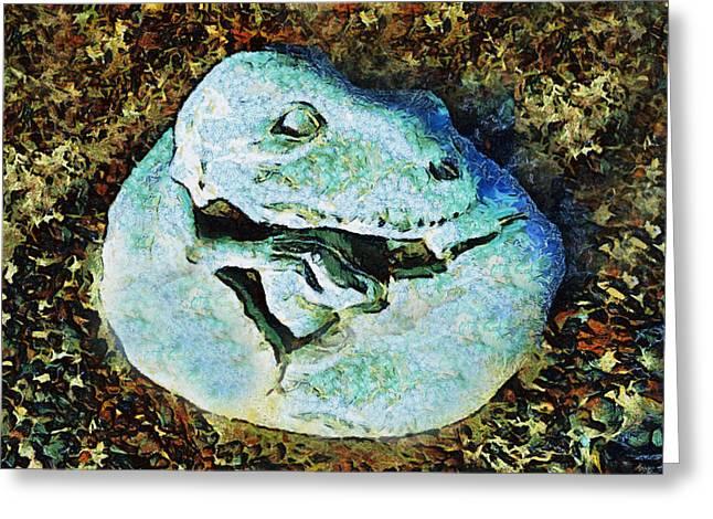 Dinosaurs Greeting Cards - Dinosaur Caves Park Pismo Beach California Greeting Card by Barbara Snyder