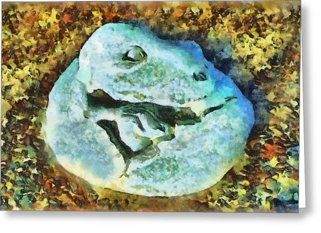 Dinosaurs Greeting Cards - Dinosaur Hatch At Pismo Beach California Greeting Card by Barbara Snyder