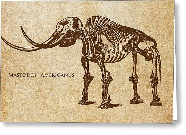 Prehistoric Digital Greeting Cards - Dinosaur Mastodon Americanus Greeting Card by Aged Pixel
