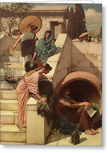 Diogenes Greeting Card by Mountain Dreams