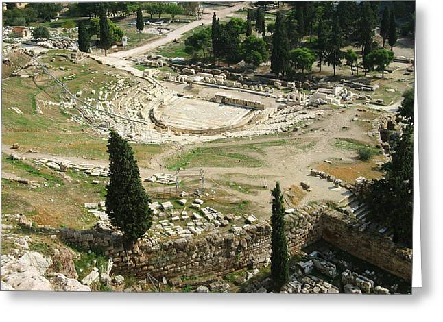 Greek Ruins Greeting Cards - Dionysus Amphitheater Greeting Card by Ellen Henneke