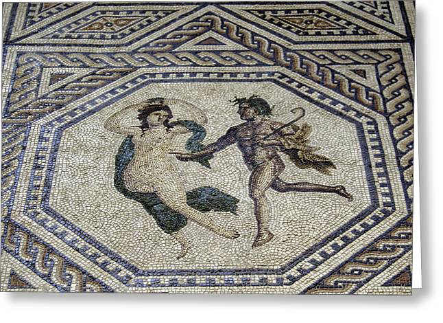 Sepulcher Greeting Cards - Dionysus Mosaic Cologne Germany Greeting Card by Teresa Mucha