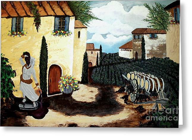 Pouring Wine Greeting Cards - Dionysus Greeting Card by Patsy Gunn