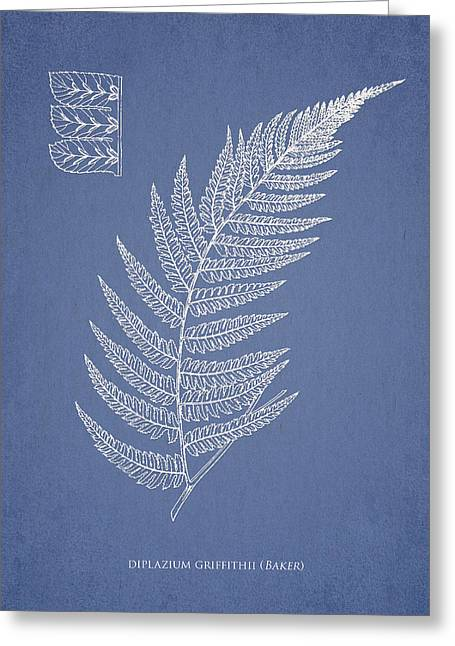 Fern Greeting Cards - Diplazium Griffithii Greeting Card by Aged Pixel