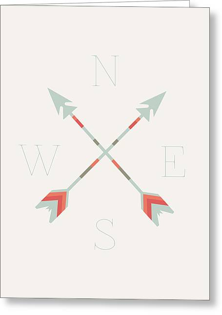 Arrow Greeting Cards - Directional Arrows Greeting Card by Sara Habecker