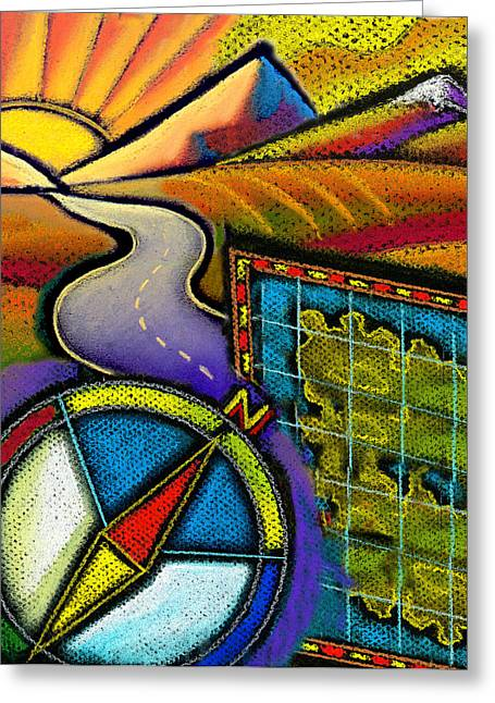 Destination Paintings Greeting Cards - Directions Greeting Card by Leon Zernitsky
