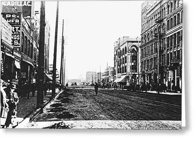 DOWNTOWN DIRT SPOKANE c. 1895 Greeting Card by Daniel Hagerman