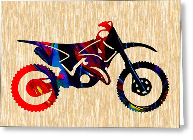 Bike Race Greeting Cards - Dirt Bike  Greeting Card by Marvin Blaine