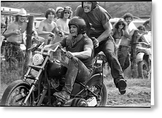 Dirt Drag Rodeo Greeting Card by Doug Barber